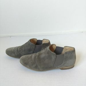 Paul Green grey suede ankle boots shoes sz 8.5